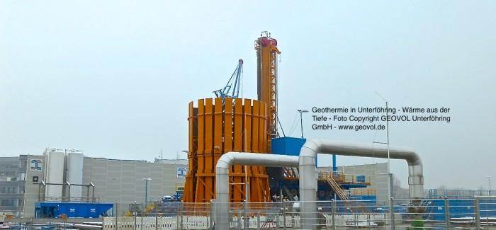 Tiefe Geothermie – Erfolgreiche neue Geothermiebohrung in Unterföhring